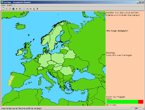 GeoTiger, Screenshot